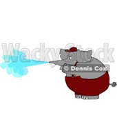 Anthropomorphic Elephant Pressure Wash Concept Clipart © djart #4562