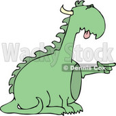 Reptilian Dragon Pointing His Finger at Something Clipart © djart #4599