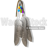Native Indian Hawk Feather Artwork Clipart © djart #4611