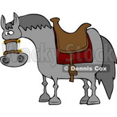 Saddled Horse Waiting for Horseback Rider Clipart © Dennis Cox #4613