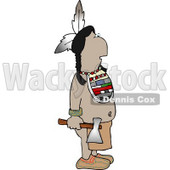 Indian Standing with a Hatchet In His Hand Clipart © Dennis Cox #4617