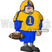 Young Male High School Football Player Standing with a Football in His Hand Clipart © djart #4632