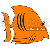 Royalty-Free (RF) Clipart Illustration of a Black And Orange Salt Water Fish In Profile © Dennis Cox #46342