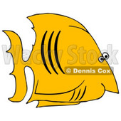 Royalty-Free (RF) Clipart Illustration of a Yellow Salt Water Fish With Black Gills © djart #46343