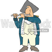 Revolutionary War Flutist Playing a Flute Clipart © Dennis Cox #4635