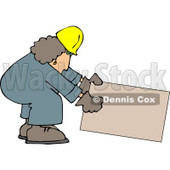 Female Construction Worker Clipart © Dennis Cox #4637