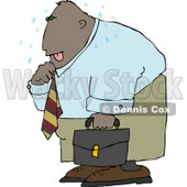 Ethnic Businessman Sweating from the Summer Heat Clipart © Dennis Cox #4650