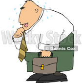 Hot Businessman Loosening Up the Tie Around His Neck Clipart © Dennis Cox #4652