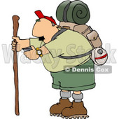 Male Hiker Checking His Compass Clipart © djart #4656