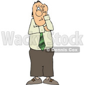 Perplexed Businessman Thinking About Something Clipart © Dennis Cox #4662