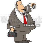 House Call Doctor with a Medical Bag and Stethoscope Clipart © Dennis Cox #4666
