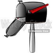 Letter Being Mailed Out Through a Standard Household Mailbox Clipart © djart #4669