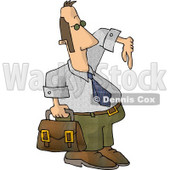 Homie G Businessman Carrying a Briefcase and Gesturing Wazzup with His Hand Clipart © djart #4671