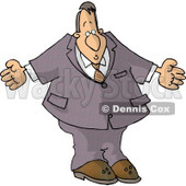 Businessman Man Shrugging His Shoulders Clipart © djart #4678