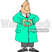 Male Doctor Hand Gesturing a Heart Symbol Clipart © Dennis Cox #4701
