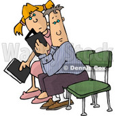 Clipart People Seated With Bibles - Royalty Free Illustration © Dennis Cox #4712