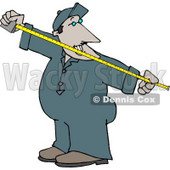 Man Measuring Something with a Tape Measure Clipart © Dennis Cox #4717