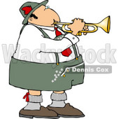 German Trumpet Player Clipart © Dennis Cox #4746