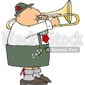 Male German Trombone Player Playing his Brass Instrument by Himself Clipart © Dennis Cox #4748