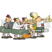 German Band Playing Musical Instruments Together Clipart © djart #4749