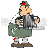 Male German Accordion Player Playing Music By Himself Clipart © Dennis Cox #4751