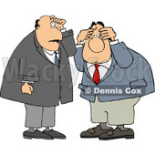 Two Businessmen Thinking About Something Clipart © Dennis Cox #4760