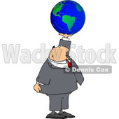 Businessman Holding the World In His Hand Clipart Concept © djart #4765