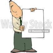 Businessman Holding a Blank Poster Board Sign Clipart © djart #4766