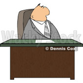 Gray Suited Male Attorney Sitting Behind His Business Desk In His Office Clipart © djart #4767