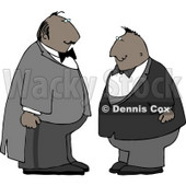 Two Men Wearing Tuxedos at a Wedding Clipart © djart #4773