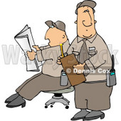 Two Male Security Guards Clipart © djart #4775