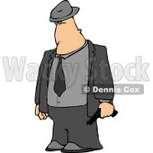 Mobster Armed with a Pistol Clipart © Dennis Cox #4787