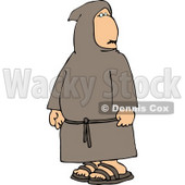 Religious Buddhist Christian Monk Clipart © Dennis Cox #4789
