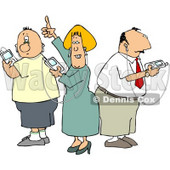 People Listening to Apple Ipods Clipart © djart #4795