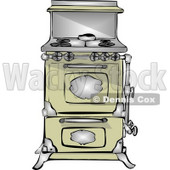 Antique Retro Kitchen Stove & Oven Clipart © djart #4800