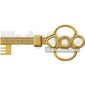 Gold Skeleton Key Clipart © djart #4803