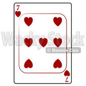 Seven/7 of Hearts Playing Card Clipart © djart #4808