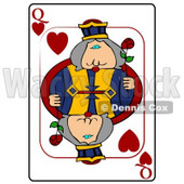 Q/Queen of Hearts Playing Card Clipart © djart #4812
