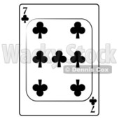 Seven/7 of Clubs Playing Card Clipart © djart #4813