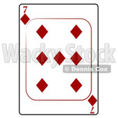 Seven/7 of Diamonds Playing Card Clipart © djart #4817