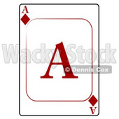 A/Ace of Diamonds Playing Card Clipart © Dennis Cox #4820