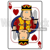 K/King of Hearts Playing Card Clipart © Dennis Cox #4822