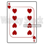 Eight/8 of Hearts Playing Card Clipart © djart #4825
