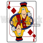 J/Jack of Diamonds Playing Card Clipart © djart #4828