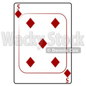 Five/5 of Diamonds Playing Card Clipart © djart #4831
