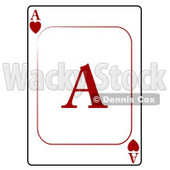 A/Ace of Hearts Playing Card Clipart © Dennis Cox #4832