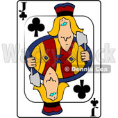J/Jack of Clubs Playing Card Clipart © djart #4833
