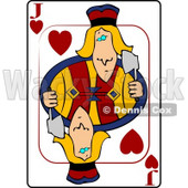 J/Jack of Hearts Playing Card Clipart © Dennis Cox #4837