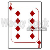 Eight/8 of Diamonds Playing Card Clipart © djart #4838