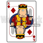 K/King of Diamonds Playing Card Clipart © Dennis Cox #4839